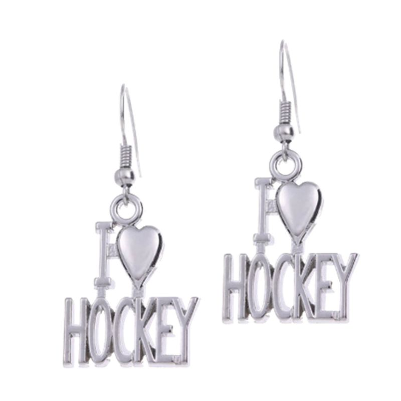 Boucle d'Oreille I Love Hockey