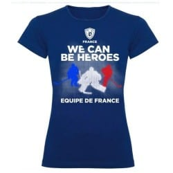 T-shirt supporter femme Hockey France